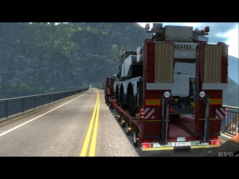 Euro Truck Simulator 2 - Mobile Crane - Heavy Cargo Gameplay