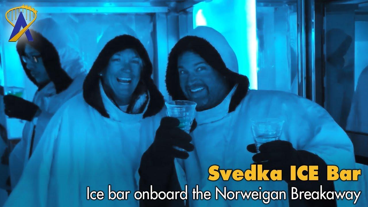 Svedka ICE Bar Onboard Norwegian Breakaway YouTube - Ice bar on cruise ship