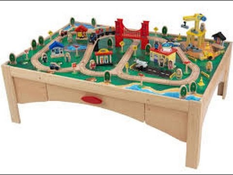 FAMILY FUN AND EDUCATION Playing with Dean\u0027s wooden train set table Life As Dean & FAMILY FUN AND EDUCATION Playing with Dean\u0027s wooden train set table ...