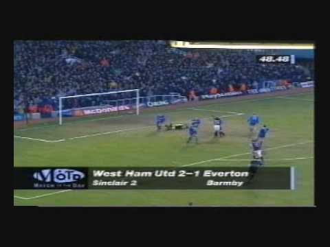West Ham 2-2 Everton - 97/98 - Trevor Sinclair's debut