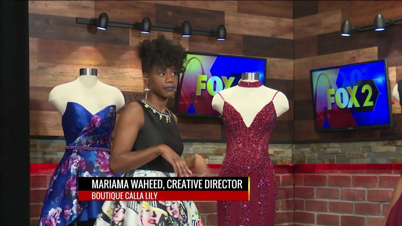 91d8b04b694 FOX 2 9AM BOUTIQUE CALLA LILY PROM AND AWARD DRESSES - YouTube