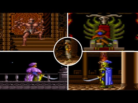 Game n°007 - Prince of Persia ( SNES ) All bosses feat. Jaffar and my fingers on fire |