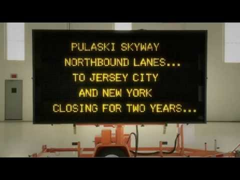 Pulaski Skyway Northbound Lanes Closing April 12, 2014