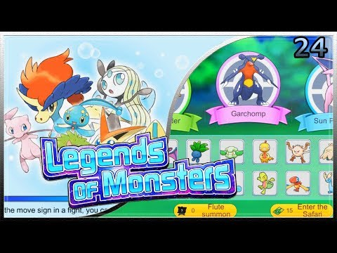 LEGENDS OF MONSTERS POKEMON VS #24 | GARCHOMP EN LA ZONA SAFARI | GAMEPLAY ESPAÑOL