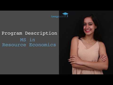 LSEF & UMASS Scholarship- MS in Resource Economics  [ForeignAdmits]