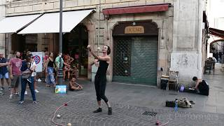 Amazing 7 Balls Juggling Performance - Buskers Festival