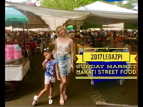 2017 Sunday Legazpi Market Makati Street Food Walking Tour Manila Philippines