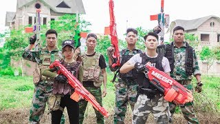 LTT Nerf War : SEAL X Warriors Nerf Guns Fight Criminal Group Bandits Nerf Mod Police Protection