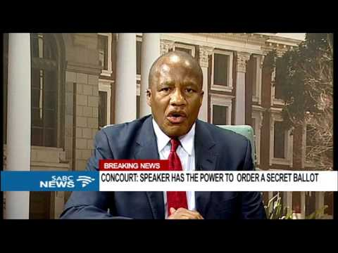 ANC react to ConCourt ruling #SecretBallot
