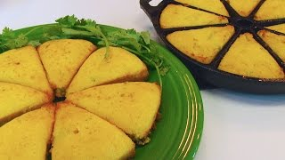 Betty's Green Chile & Onion Cornbread Wedges