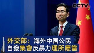 外交部发言人:海外中国公民集会反对抹黑中国是理所应当   CCTV