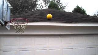 Double Bounce Off Roof Basketball Shot