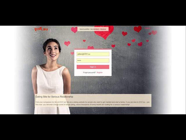 Презентация сайта знакомств