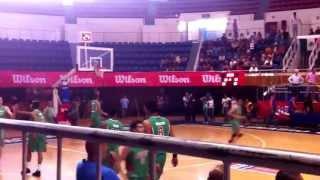 Show de clavadas selección Mexicana Universitaria. Previó juego 2 vs Lituania.