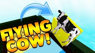 FLYING COW GLITCH!? | Build A Boat For Treasure ROBLOX