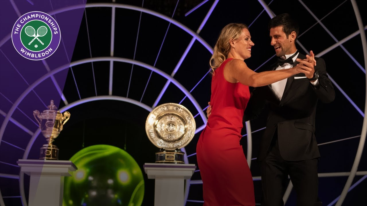 Novak Djokovic and Angelique Kerber dance at Champions' Dinner