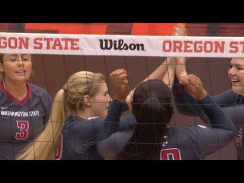 Recap: No. 10 Washington State women's volleyball rallies past Oregon State