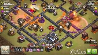 CLASH OF CLANS:- TH9 PENTA LAVALOON ATTACKS ON MAX BASES 2017