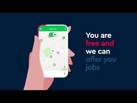 How to take a job // FREE NOW for Driver