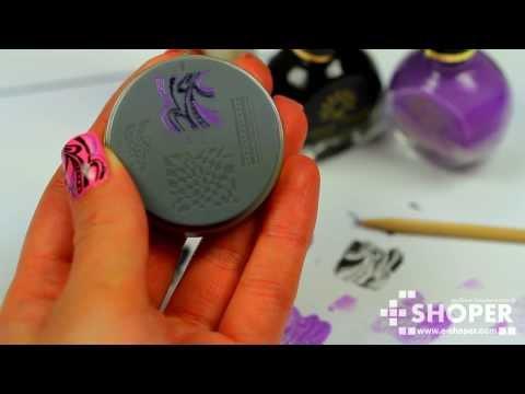 Стемпинг для ногтей цветной