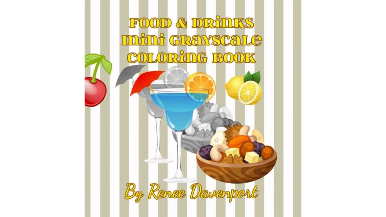 food and drinks mini grayscale coloring book many mini grayscale