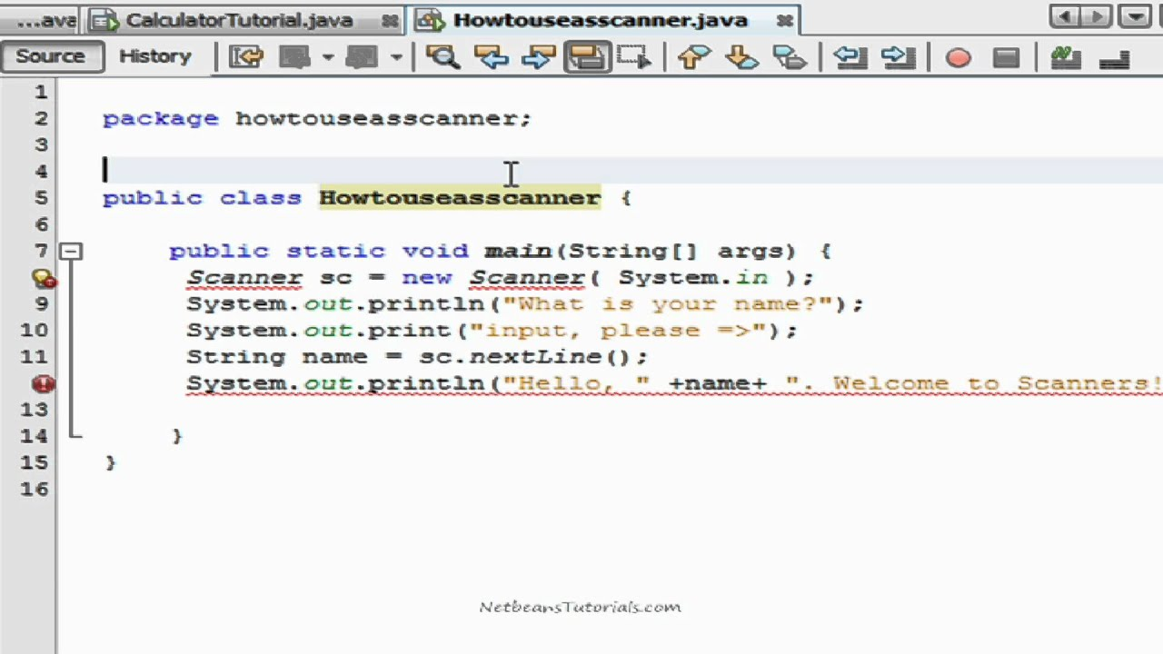 How To Use A Scanner In Netbeans Java Tutorial Youtube