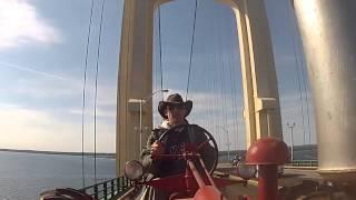 Antique Tractor Parade Mackinac Bridge 2013
