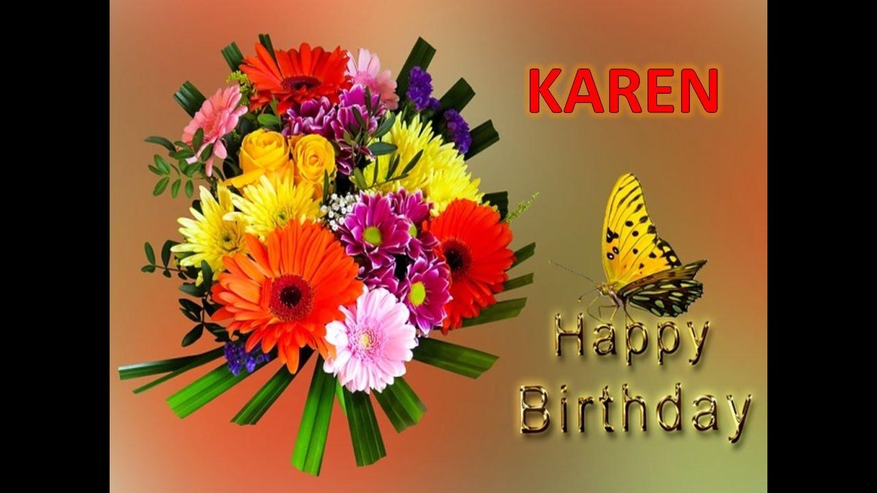 Feliz Cumpleanos Karen Dedicatoria Youtube