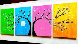 Beautiful Tree Painting with Acrylic Colors | DIY Seasonal Wall Decors | #048 |