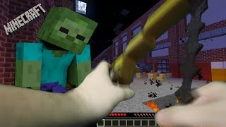 Realistic Minecraft - THE WALKING DEAD IN REAL LIFE!!!