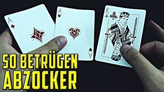 So betrügen ABZOCKER mit Karten - Hütchenspieler Trick (3 Card Monte) Tutorial