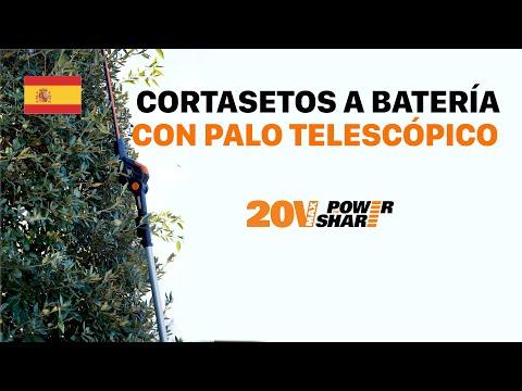 WORX WG252E Cortasetos con palo telescópico a batería- español - worx.com