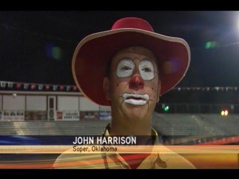 John Harrison Rodeo Clown Of Soper Ok At Spooner Rodeo