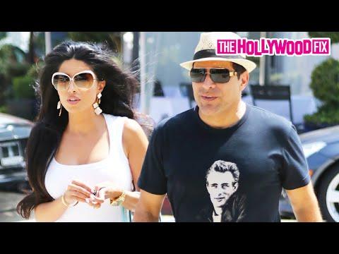 Leyla Milani & Manny Khoshbin Enjoy Lunch In West Hollywood 8.21.15 - TheHollywoodFix.com