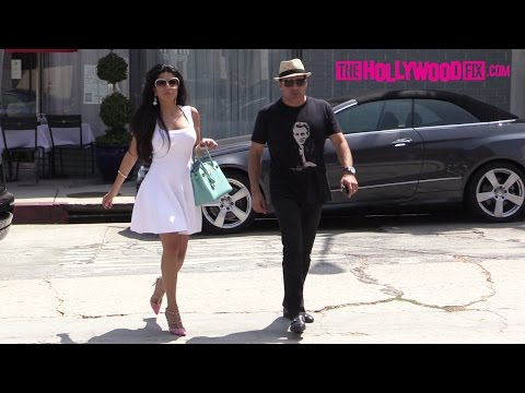 Leyla Milani & Manny Khoshbin Enjoy Lunch In West Hollywood 8.21.15  TheHollywoodFix.com