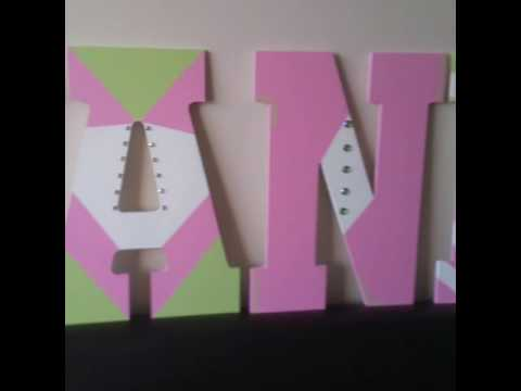 Hand Painted Custom Designed Wooden Letters