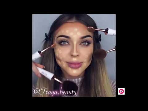 Жесткий контуринг  Жирная коррекция  Как делают макияж американские блоггеры
