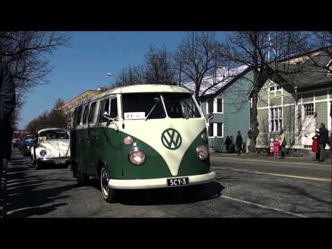 Joensuun vappuajot 2016 - Vanhat autot