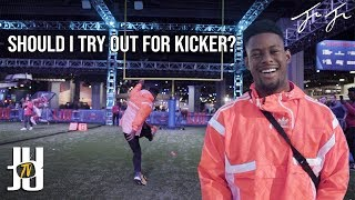 JuJu Tries Out For Kicker!