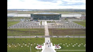 Приземление аэропорт Гагарин Саратов Landing Gagarin Airport Saratov