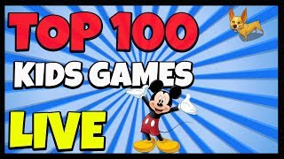 Top 100 Kids Games! ALL Kids Games LIVE - Mickey Mouse, Toopy and Binoo, Power Rangers and More!