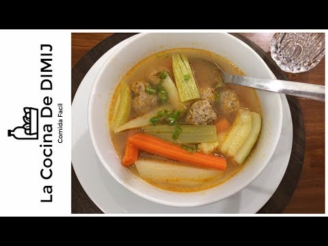 Albondigas en caldo con vegetales receta de alb ndigas - Albondigas con verduras ...