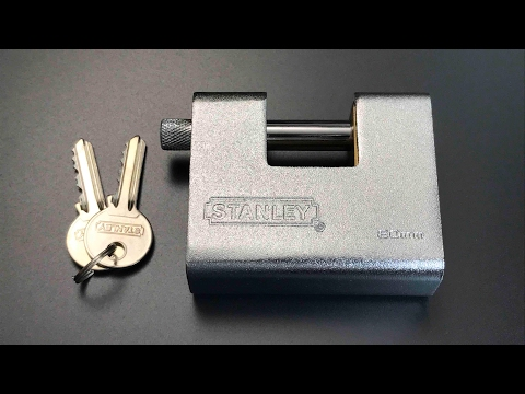[394] Stanley 80mm Armored Shutter Lock Picked