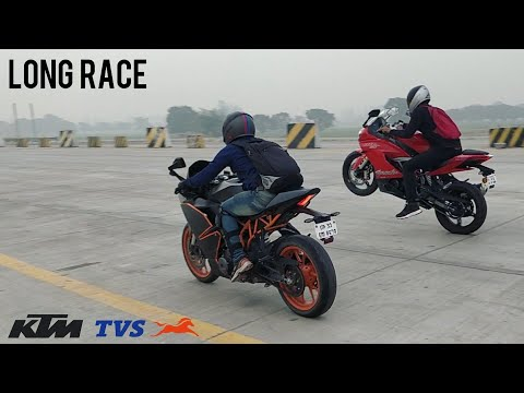 APACHE RR310 VS KTM RC390 | Long Race | Highway