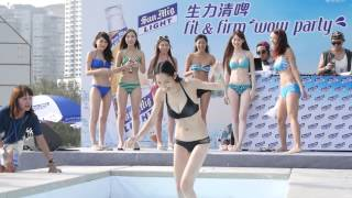 Repeat youtube video hot sexy asian girl in summer bikini water competition