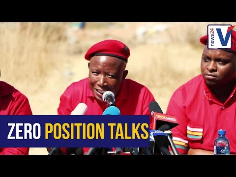 'Never speak about positions with us'- EFF leader Julius Malema