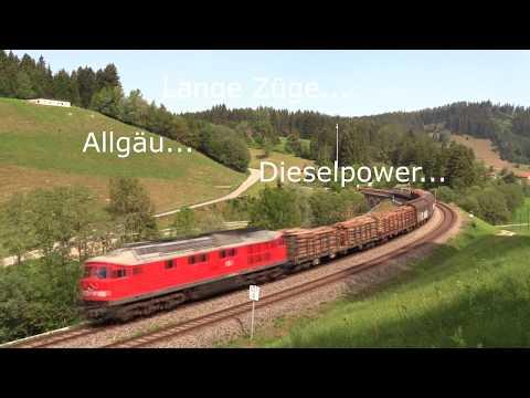 Allgäu... Lange Züge... Diesel:  Arlbergumleiter 2018 !   1.Teil
