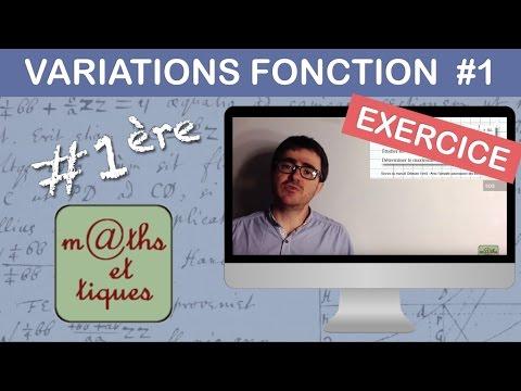Exercice Etudier Les Variations D Une Fonction Niv 1 Premiere