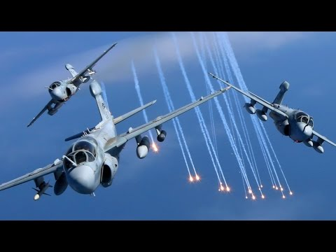 EA-6B Prowler Squadrons Final Flight Together Before Retirem