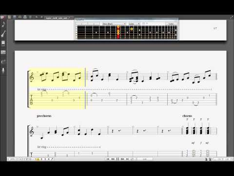 Learn How to Play Taylor Swift Safe Sound Acoustic Guitar Pro 6 TABS ...